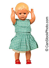muy, bebé, viejo, (1940s), muñeca