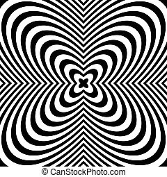 muy lleno, irradiar, resumen, radial, monocromo, background:, pattern.