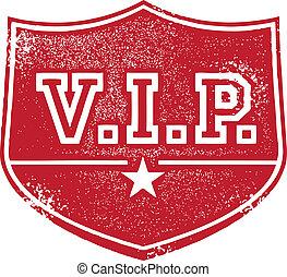 muy, persona, importante, insignia, v.i.p