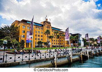 muzeum, australia, sztuka, rówieśnik, sydney