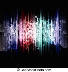muziek, abstract, 1107