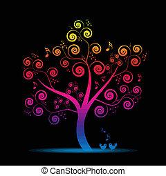 muziek, boompje