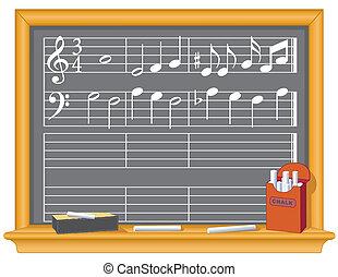 muziek, bord