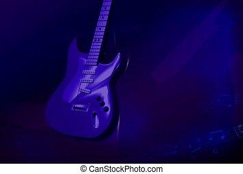 muziek, gitaar, rots en rol