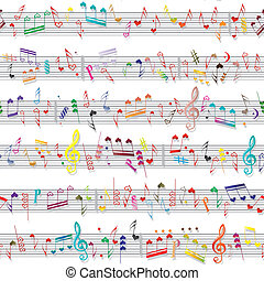 muziek, hart, aantekening, geluid, liefde, textuur