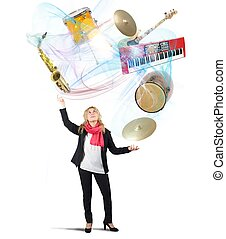 muziek, jongleur