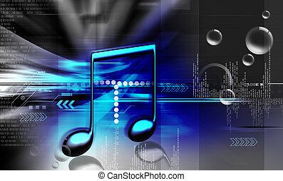 muziek, meldingsbord