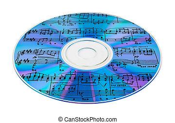 muziek, op, cd
