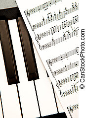 muziek, op einde, partituur