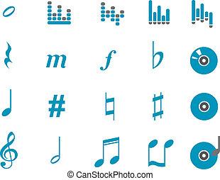 muziek, pictogram, set