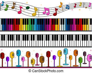 muziek, randjes