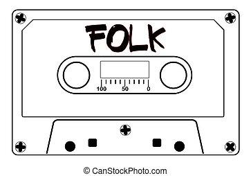 muziek reep, folk-music, cassette