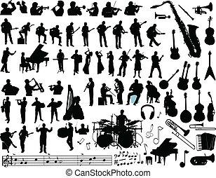 muziek, vector