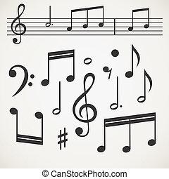 muziek verzameling, aantekening