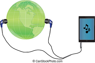 muziek, wereld