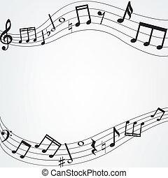 muzieknota's, grens