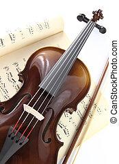muzieknoten, viool