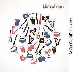 muzikaal instrument, iconen