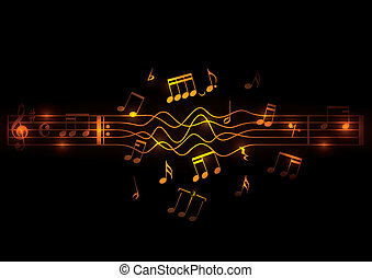 muzikalisch, gloeiend, opmerkingen, ontwerp