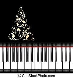 muzikalisch, mal, kerstmis