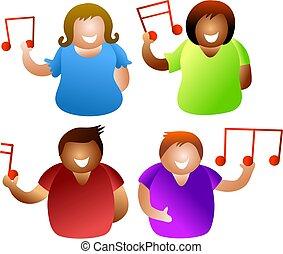 muzikalisch, mensen