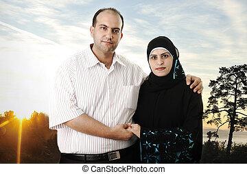muzulmán, összekapcsol outdoors