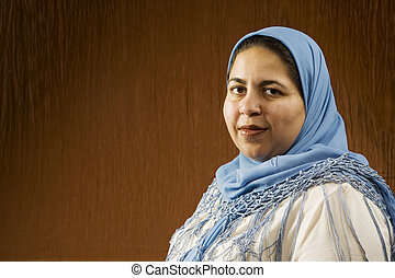 muzulmán, nő