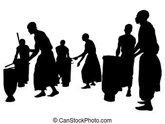 muzycy, piątka, afrykanin