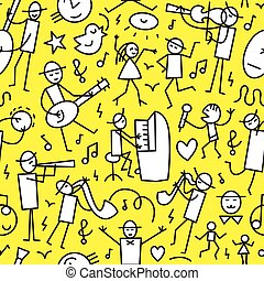 muzycy, seamless, tło