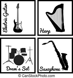 Poster Instrumentować Muzyczny Muzyka Smyczki Wiatr Plakat
