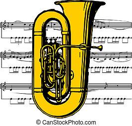 muzyczny instrument, tuba