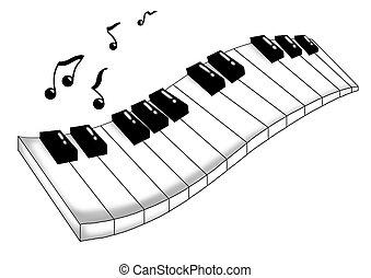muzyczny, klawiatura