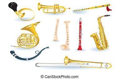 muzyczny, komplet, instrumentować
