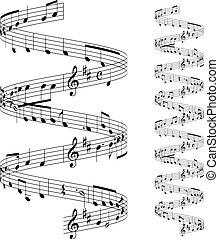 muzyczny notatnik, personel