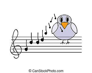 muzyczny, ptak