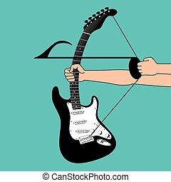 muzyczny, tło, twórczy