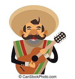 muzyk, mariachi, ikona