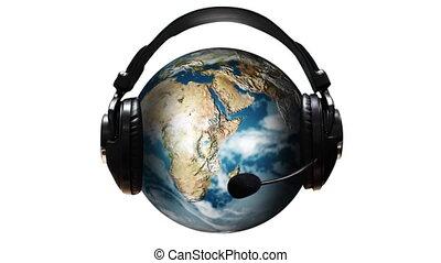 muzyka, świat, 3d ożywienie