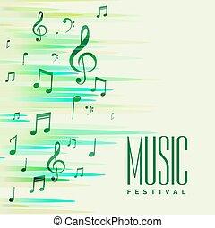 muzyka, abstrakcyjny zamiar, notatki, tło