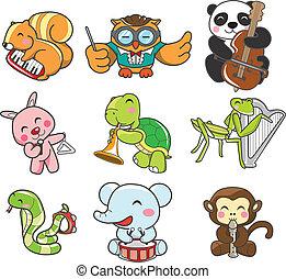 muzyka, gra, zwierzę