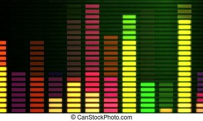 muzyka, graficzny equaliser