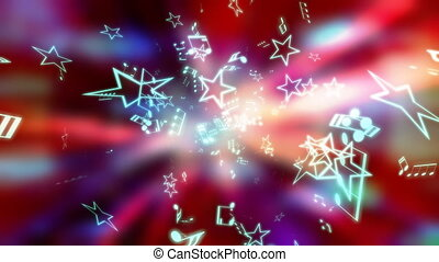 muzyka, gwiazdy, pętla