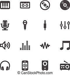muzyka, ikony