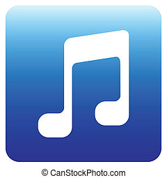 muzyka notują, znak, ikona