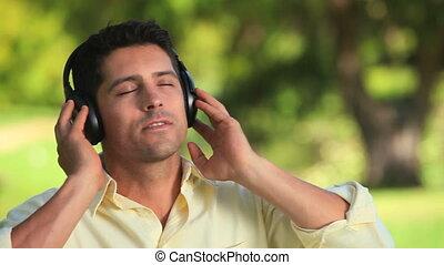 muzyka, ruchomy, rytm, człowiek