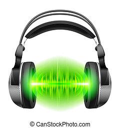 muzyka, słuchawki, interpretacja