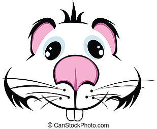 muzzle hamster vector
