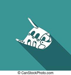 Muzzle icon. Vector Illustration