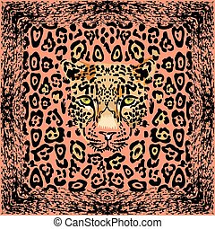 Muzzle leopard pattern