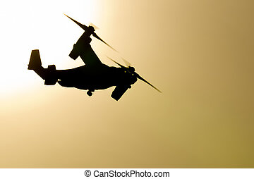 MV-22 Osprey - A Marine Corps V-22 Osprey makes an early...